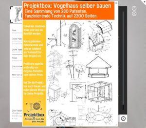 Futterstelle selber bauen, Projektbox mit 230 Original Patenten