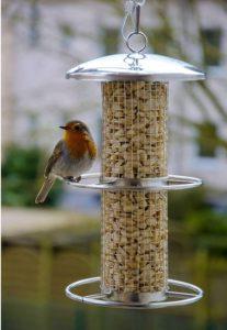 Futtersäulen, dobar Futterspender für Vögel mit Edelstahlgitter (10041)